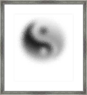 Cosmic Yin Yang Framed Print by Daniel Hagerman