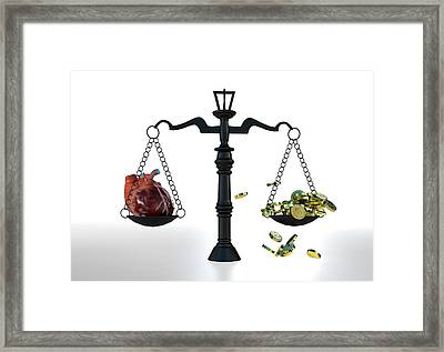 Cost Of Organ Donation Framed Print by Christian Darkin