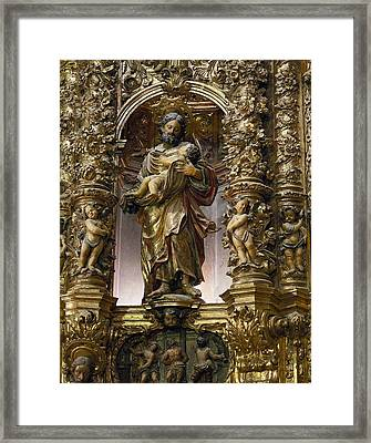 Costa, Pablo 1672-1728. Main Altarpiece Framed Print by Everett
