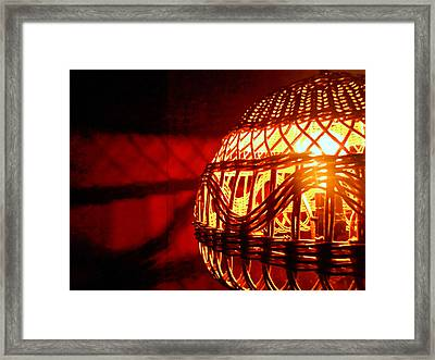 Costa Rica Lamp Framed Print by Sherry Dooley