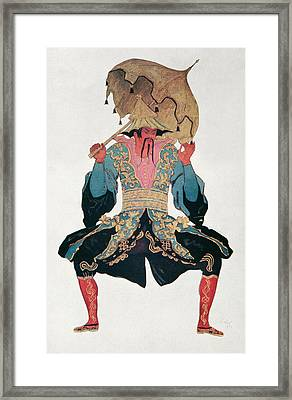 Costume Design For A Chinaman Framed Print by Leon Bakst