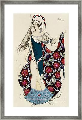 Costume Design Framed Print by Leon Bakst