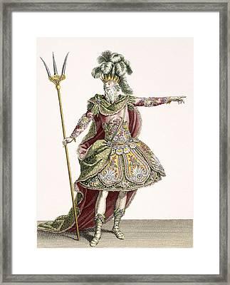 Costume For Neptune In Several Operas Framed Print by Jean Baptiste Martin