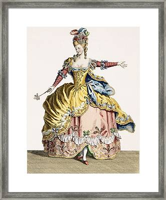 Costume For The Queen Of The Sylphs Framed Print by Jean Baptiste Martin