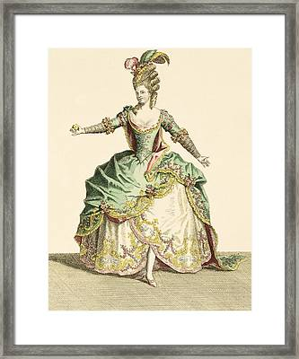 Costume For Venus In Several Operas Framed Print by Jean Baptiste Martin