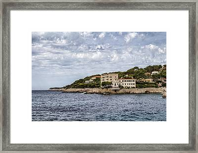 Cote D'azur - South Of France Framed Print by Georgia Fowler