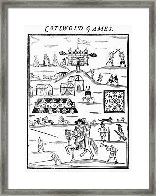 Cotswold Games, 1636 Framed Print by Granger