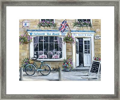 Cotswold Tea Room Framed Print by Marilyn Dunlap