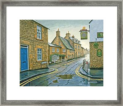 Cotswold Village-rainy Day Framed Print by Paul Krapf