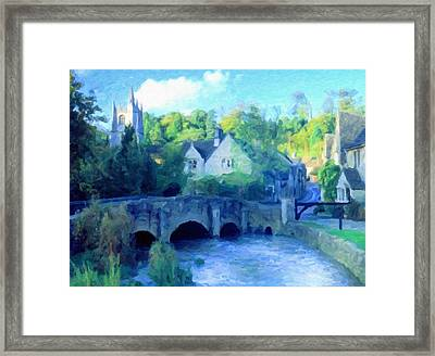 Cotswolds Of England Framed Print by Georgiana Romanovna