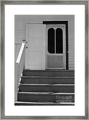 Cottage 5 Stair Steps Home Framed Print by Ella Kaye Dickey
