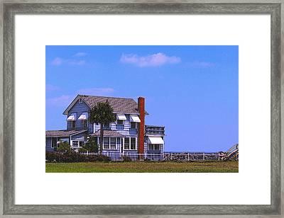 Cottage Blue Framed Print by Laura Ragland