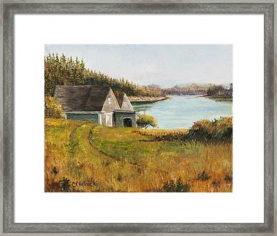 Cottage Glow Framed Print by Cindy Plutnicki
