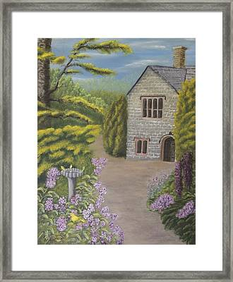 Cottage In The Woods Framed Print by Lou Magoncia