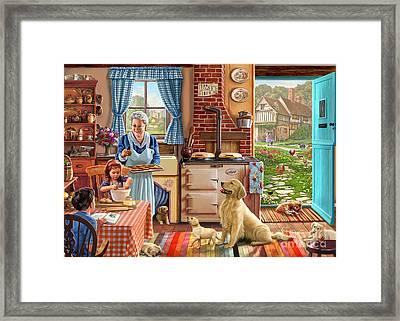 Cottage Interior Framed Print by Steve Crisp