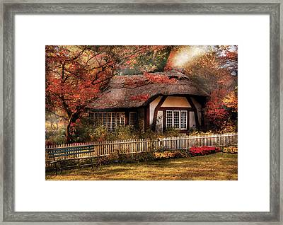 Cottage - Nana's House Framed Print by Mike Savad