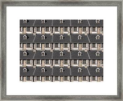 Cottage Neighbour Collage Framed Print by Allan Swart