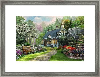 Cottage Pub Framed Print by Dominic Davison