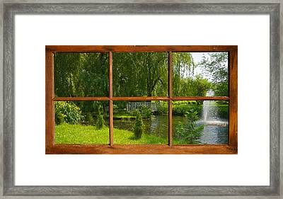 Cottage View. Framed Print by Kelly Nelson