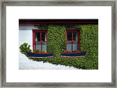 Cottage Windows, Kinsale,county Cork Framed Print by Panoramic Images