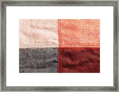 Cotton Background Framed Print by Tom Gowanlock