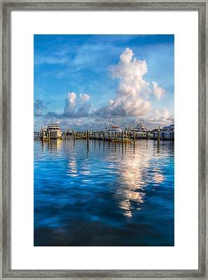 Cotton Candy Framed Print by Debra and Dave Vanderlaan