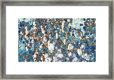 Cotton Denim Acid Wash Framed Print by Feile Case