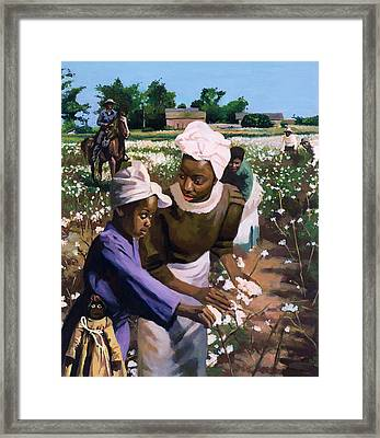 Cotton Pickers Framed Print by Colin Bootman