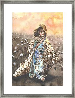 Cottonpicker Framed Print by Kim Whitton