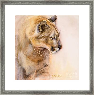 Cougar On The Prowl Framed Print by Bonnie Rinier