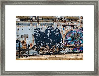 Council Of Monkeys 2 Framed Print by Adrian Evans