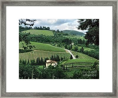Counrtyside Of Tuscany Framed Print by Jennie Breeze
