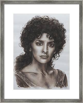 counselor Deanna Troi Star Trek TNG Framed Print by Giulia Riva