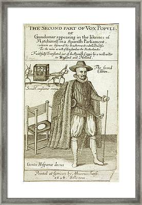 Count Diego Gondomar Framed Print by British Library