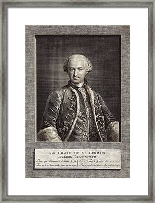 Count Of St Germain, French Alchemist Framed Print by Science Photo Library
