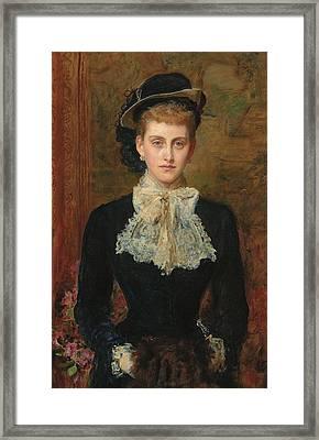 Countess De Pourtales Framed Print by Sir John Everett Millais