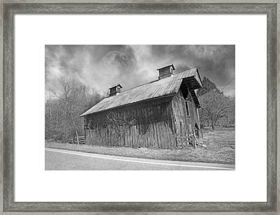 Country Barn Country Moon Country Framed Print by Betsy Knapp