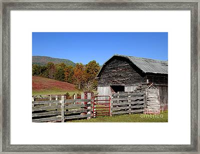 Country Barn Framed Print by Jeff McJunkin