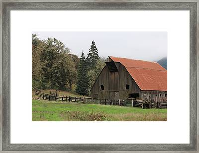 Country Barn Framed Print by Katie Wing Vigil