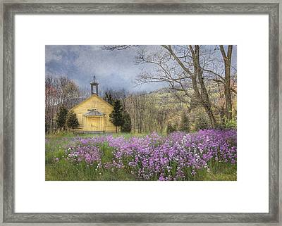 Country Charm School Framed Print by Lori Deiter