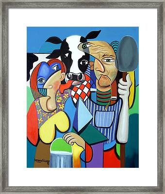 Country Cubism Framed Print by Anthony Falbo