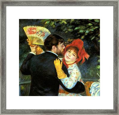 Country Dance Detail Framed Print by Pierre Auguste Renoir