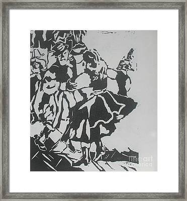 Country Dance Framed Print by PainterArtist FIN