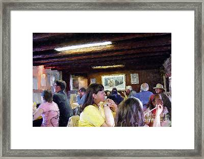 Country Diner Framed Print by Ursula Freer