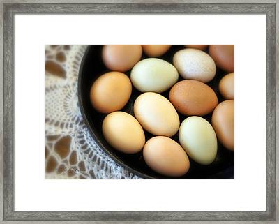 Country Egg Skillet Framed Print by Cricket Hackmann