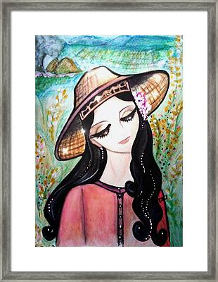 Country Farmer Maiden Framed Print by Tarinee Kulchol
