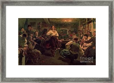 Country Festival Framed Print by Ilya Efimovich Repin