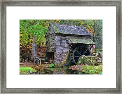 Country Grist Mill Framed Print by Paul Ward