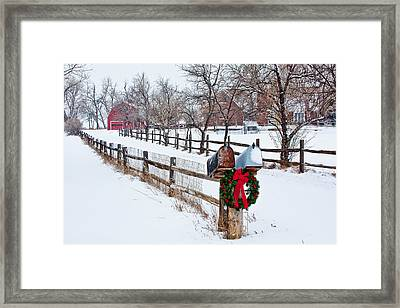 Country Holiday Cheer Framed Print by Teri Virbickis