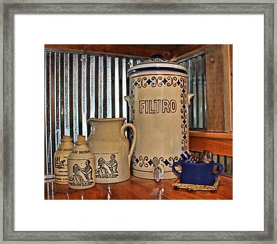 Country Kitchen Framed Print by Sylvia Thornton